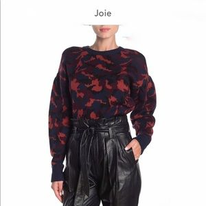 Joie Brycen Camo Wool Sweater Multicolored Medium